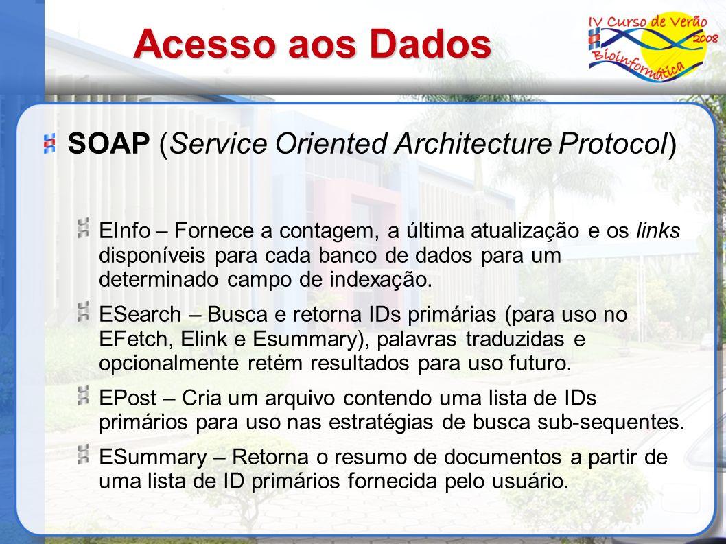 Acesso aos Dados SOAP (Service Oriented Architecture Protocol)