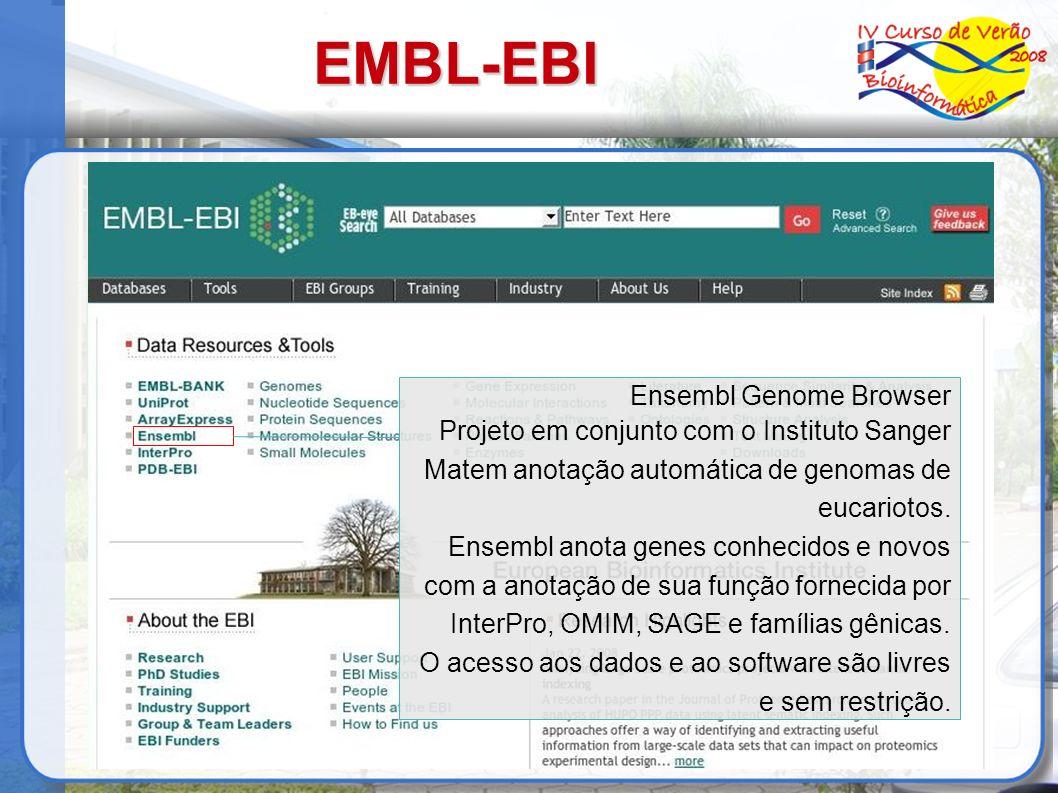 EMBL-EBI Ensembl Genome Browser