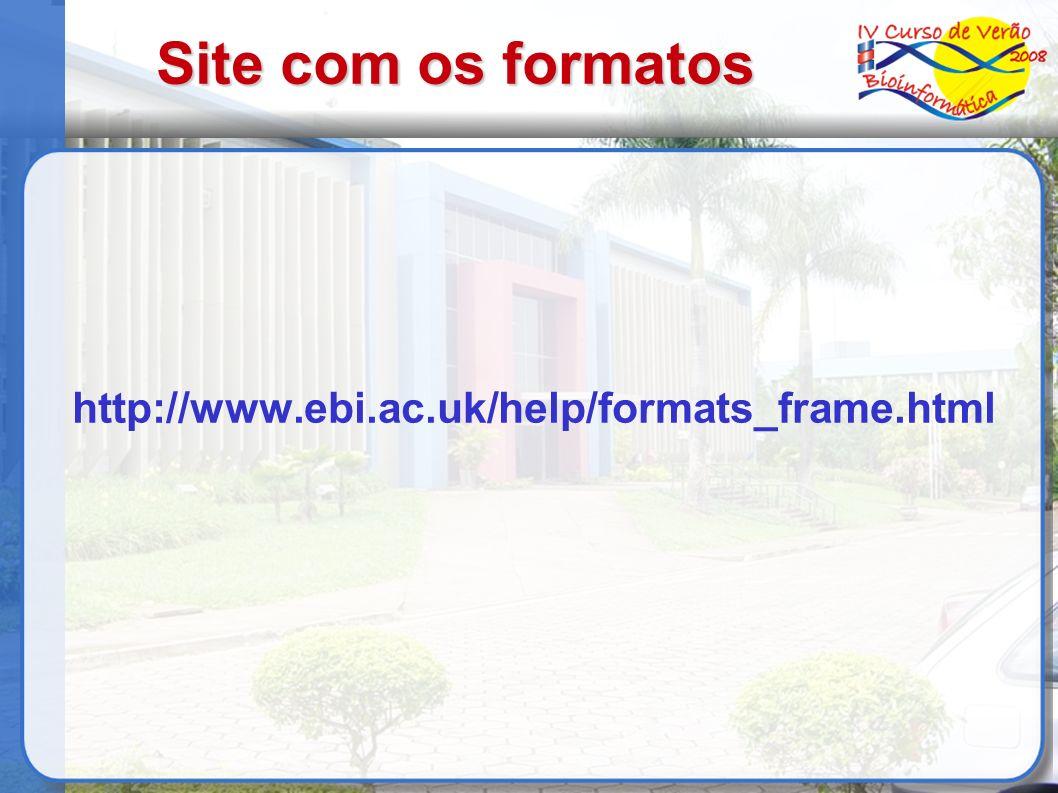Site com os formatos http://www.ebi.ac.uk/help/formats_frame.html