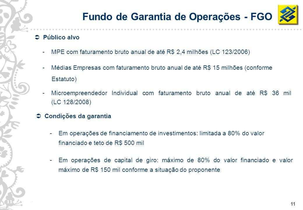 Fundo de Garantia de Operações - FGO