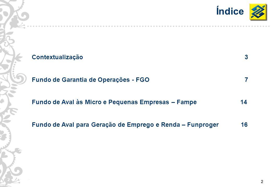 Índice Contextualização 3 Fundo de Garantia de Operações - FGO 7