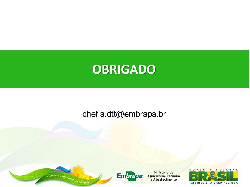 OBRIGADO chefia.dtt@embrapa.br