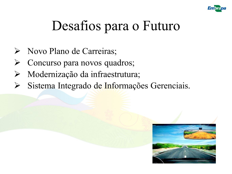 Desafios para o Futuro Novo Plano de Carreiras;