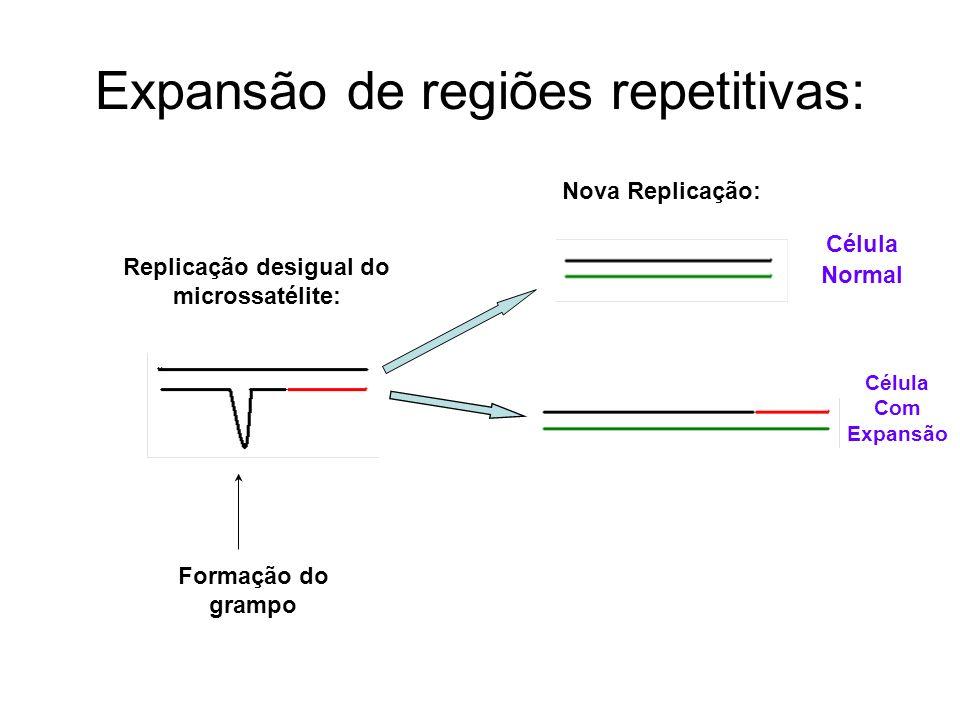 Expansão de regiões repetitivas: