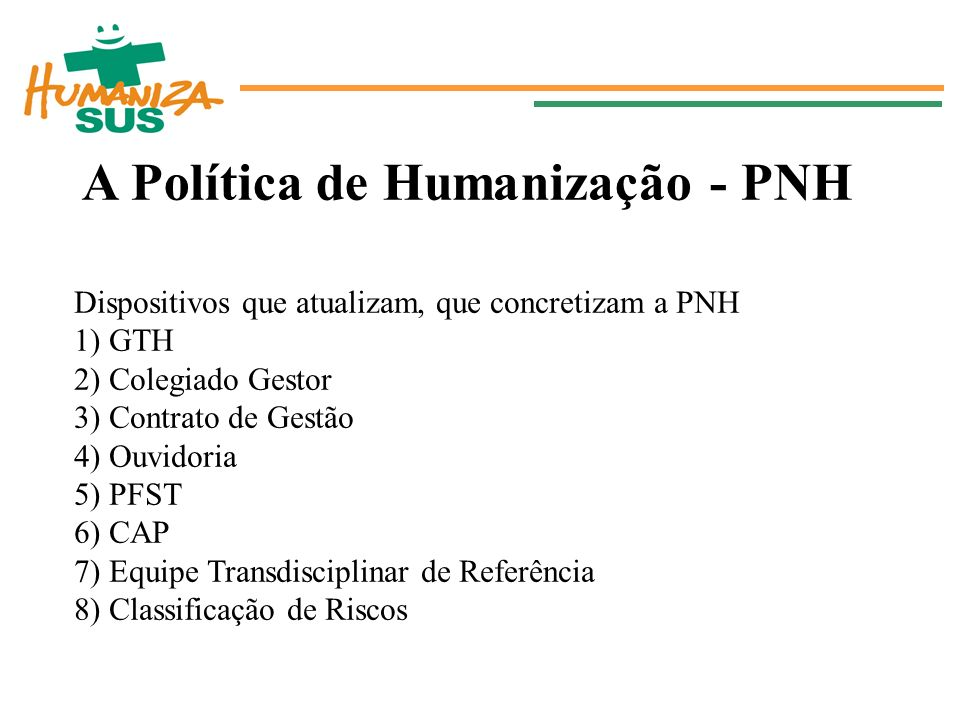 A Política de Humanização - PNH