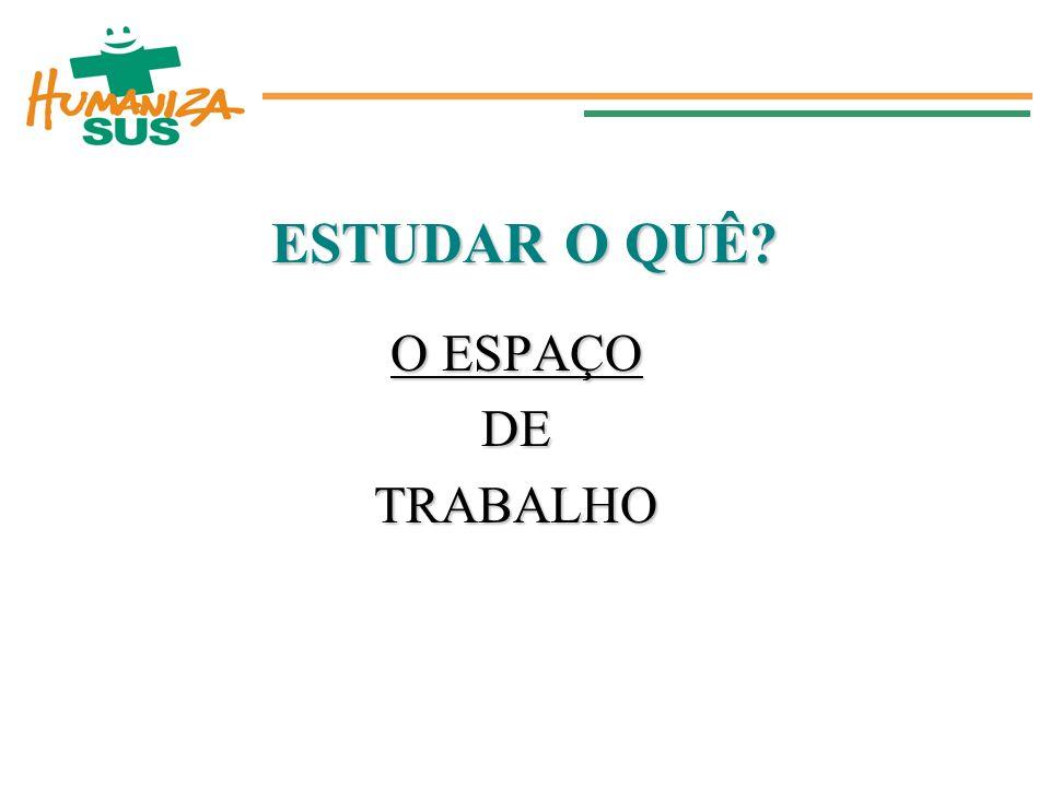 ESTUDAR O QUÊ O ESPAÇO DE TRABALHO