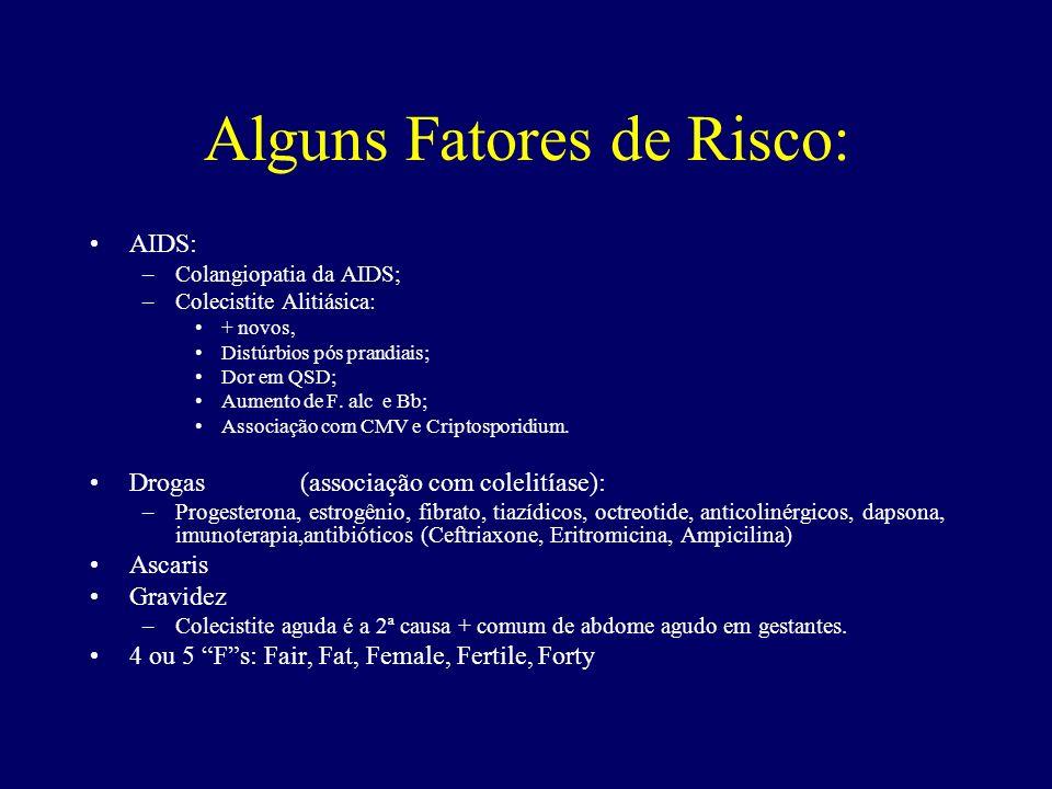 Alguns Fatores de Risco: