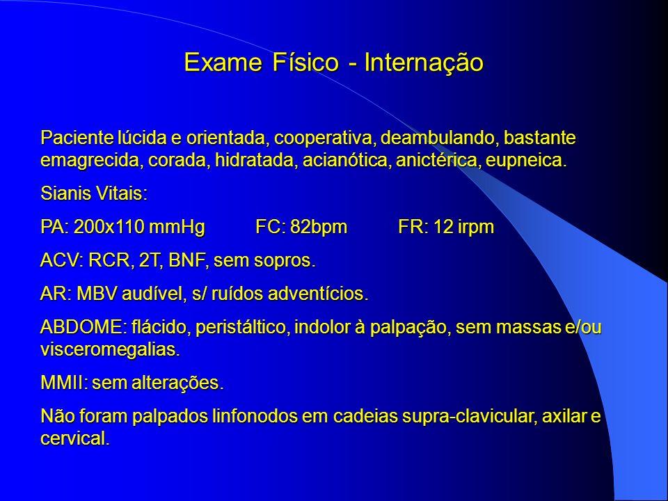Exame Físico - Internação