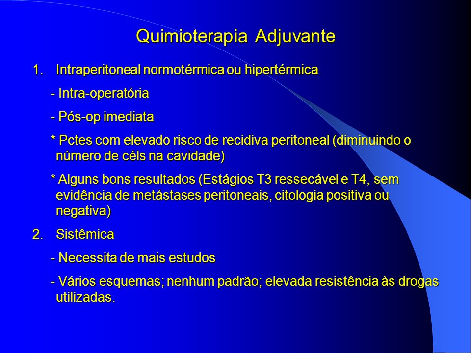 Quimioterapia Adjuvante