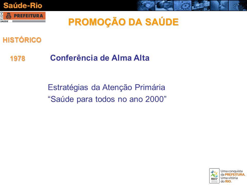 PROMOÇÃO DA SAÚDE Conferência de Alma Alta