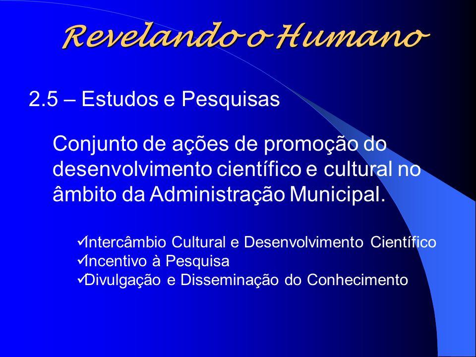 Revelando o Humano 2.5 – Estudos e Pesquisas