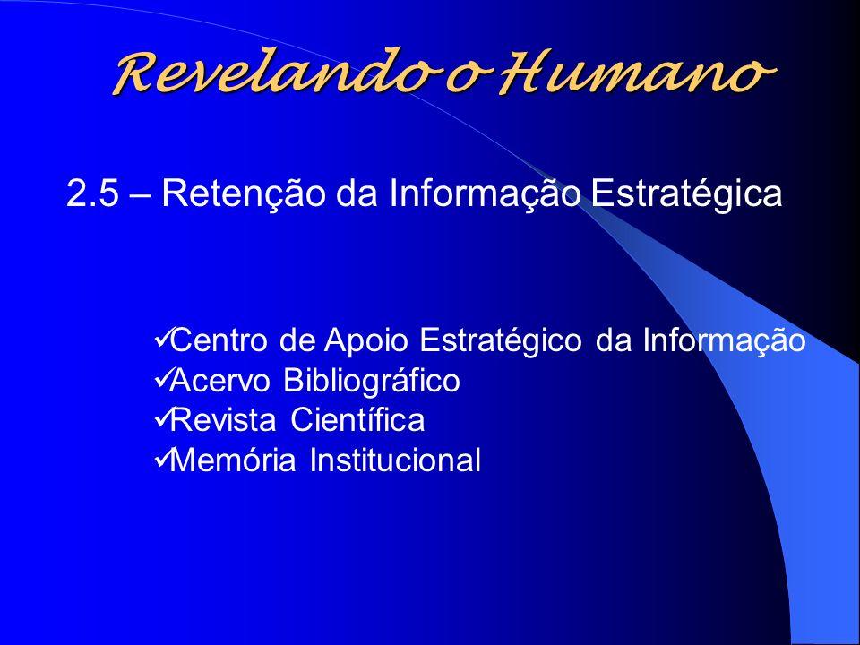 Revelando o Humano 2.5 – Retenção da Informação Estratégica