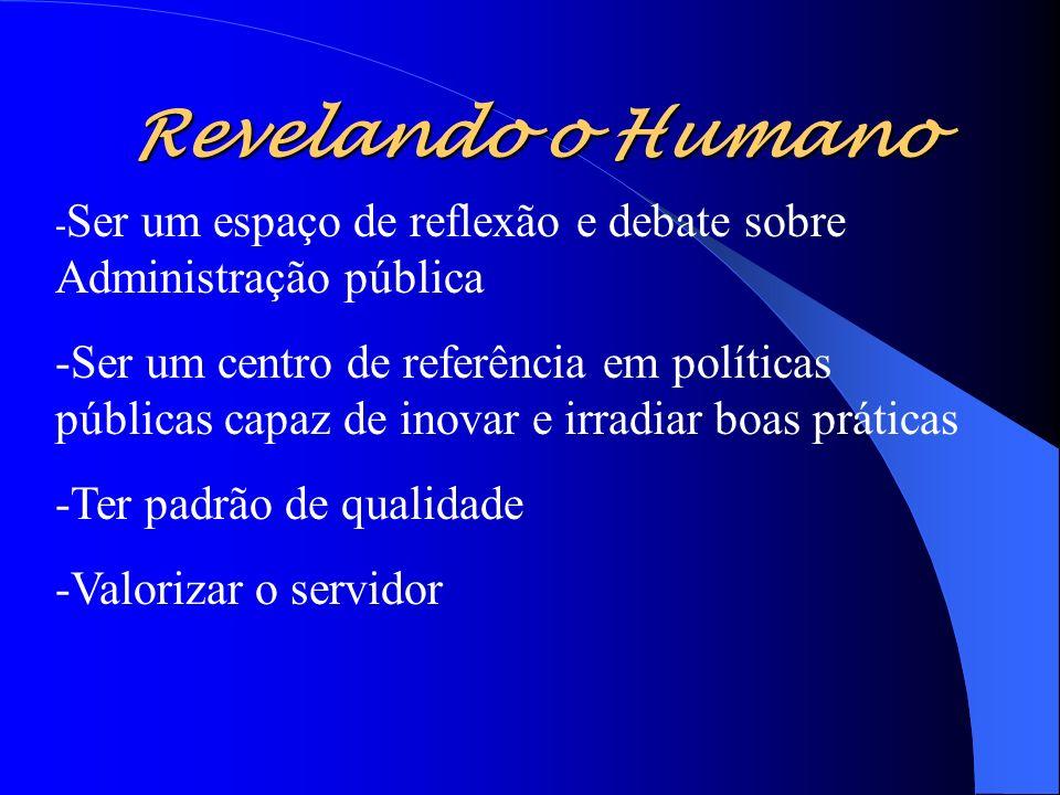 Revelando o Humano -Ser um espaço de reflexão e debate sobre Administração pública.