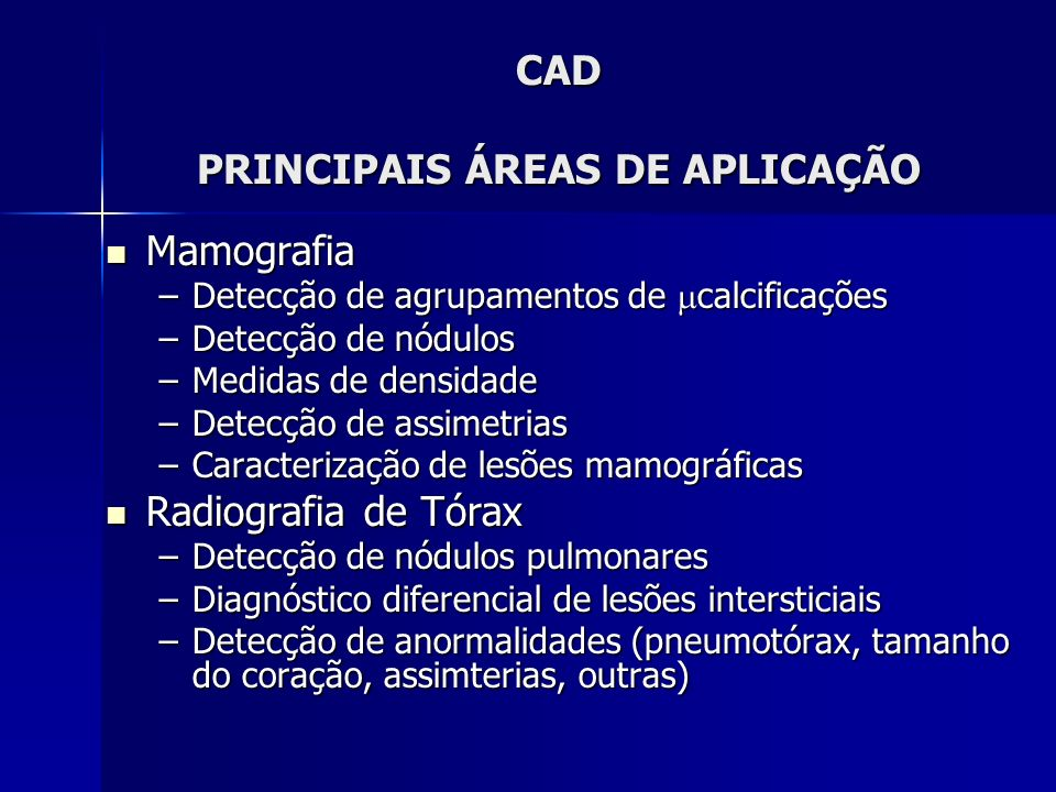 CAD PRINCIPAIS ÁREAS DE APLICAÇÃO