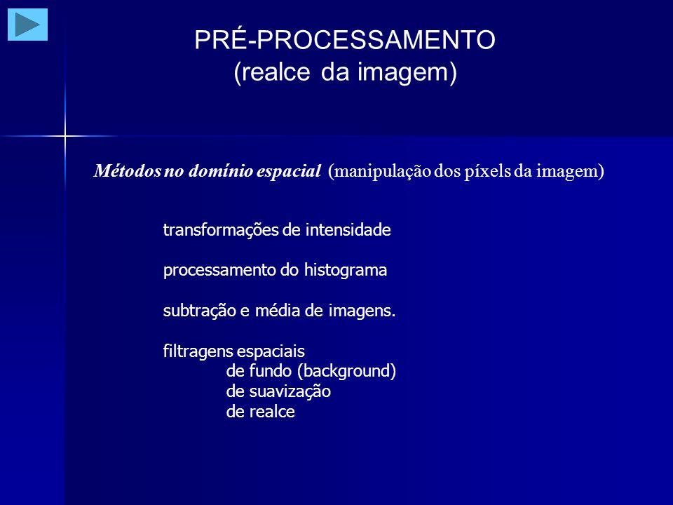 PRÉ-PROCESSAMENTO (realce da imagem)