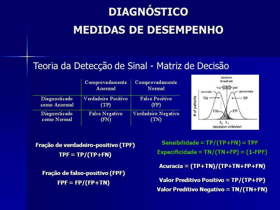 DIAGNÓSTICO MEDIDAS DE DESEMPENHO