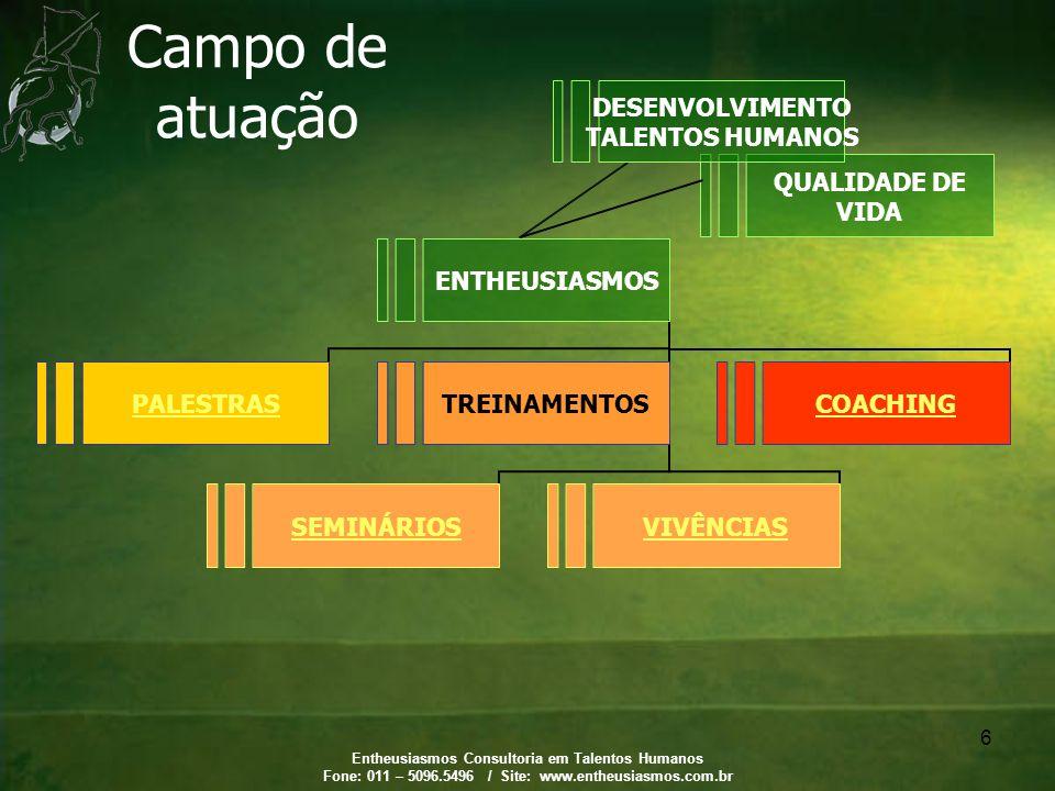Campo de atuação DESENVOLVIMENTO TALENTOS HUMANOS
