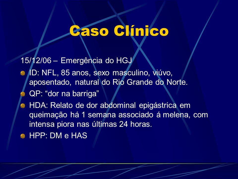 Caso Clínico 15/12/06 – Emergência do HGJ