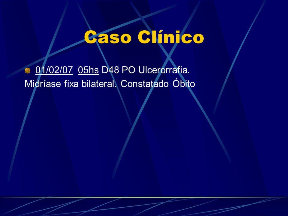 Caso Clínico 01/02/07 05hs D48 PO Ulcerorrafia.