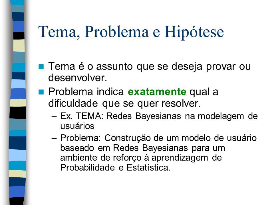 Tema, Problema e Hipótese