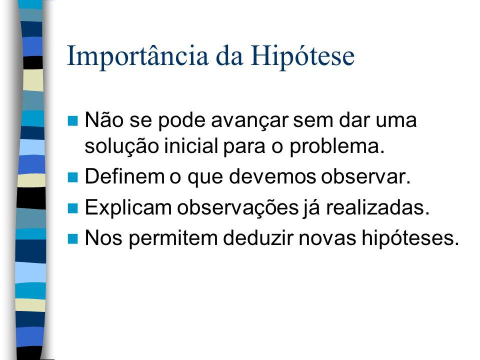 Importância da Hipótese