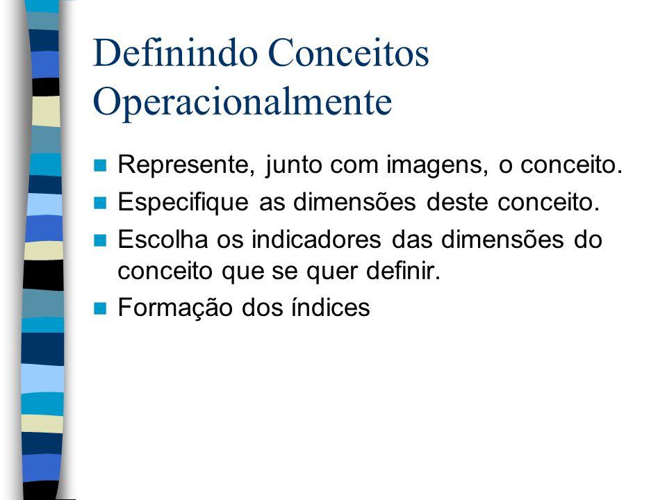 Definindo Conceitos Operacionalmente