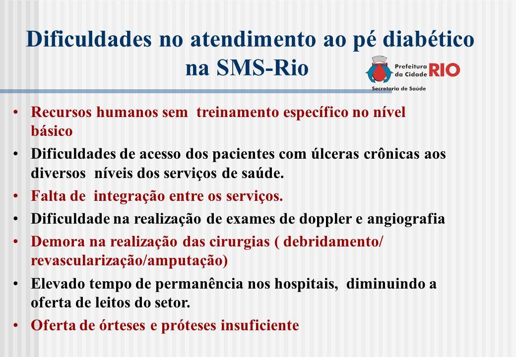 Dificuldades no atendimento ao pé diabético na SMS-Rio