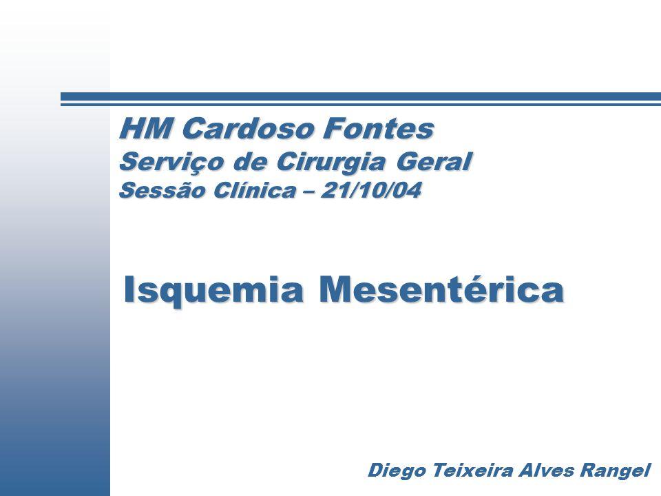 HM Cardoso Fontes Serviço de Cirurgia Geral Sessão Clínica – 21/10/04