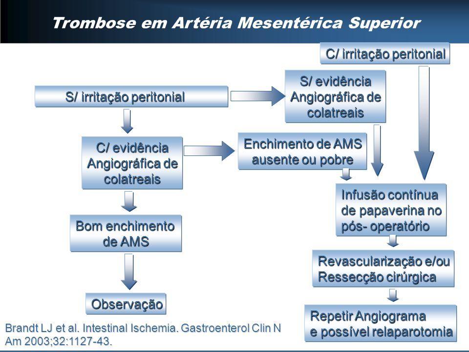 Trombose em Artéria Mesentérica Superior