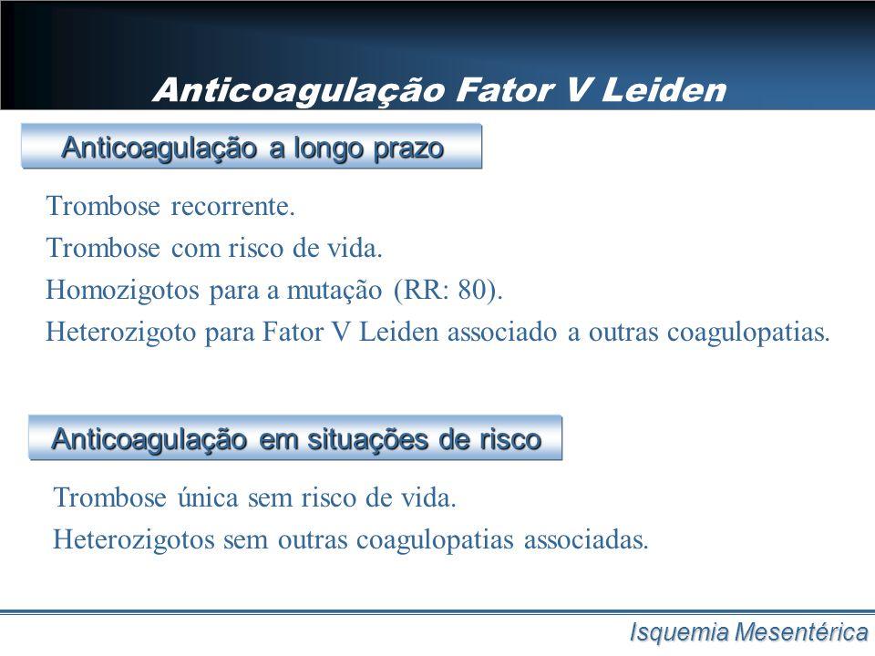 Anticoagulação Fator V Leiden