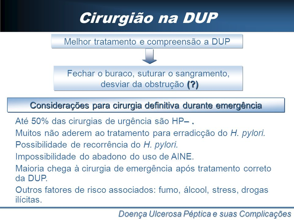 Cirurgião na DUP Melhor tratamento e compreensão a DUP