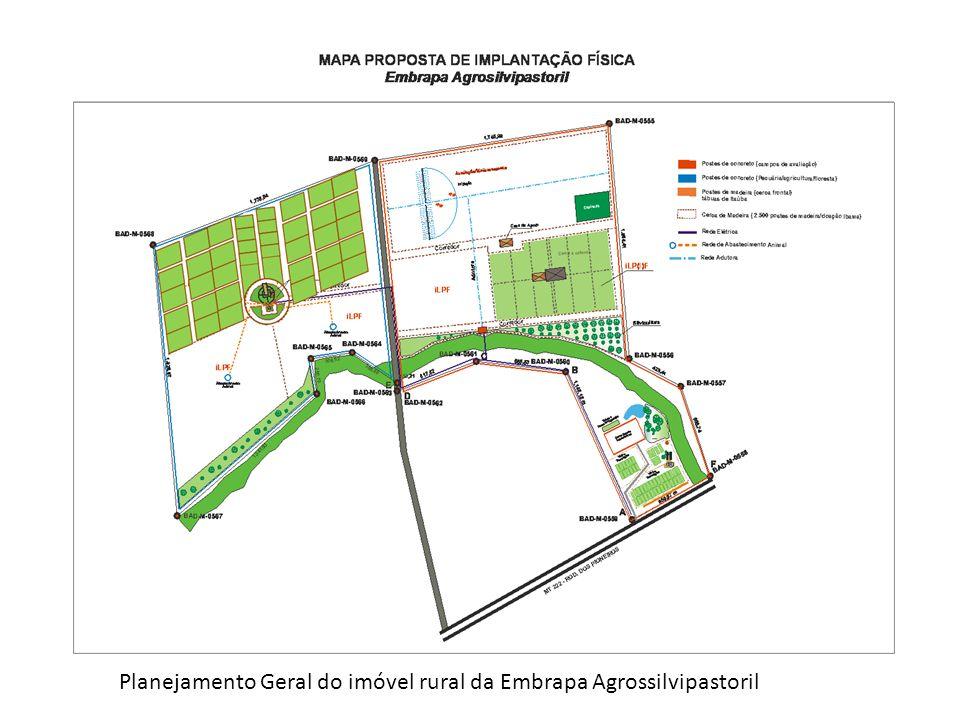 Planejamento Geral do imóvel rural da Embrapa Agrossilvipastoril