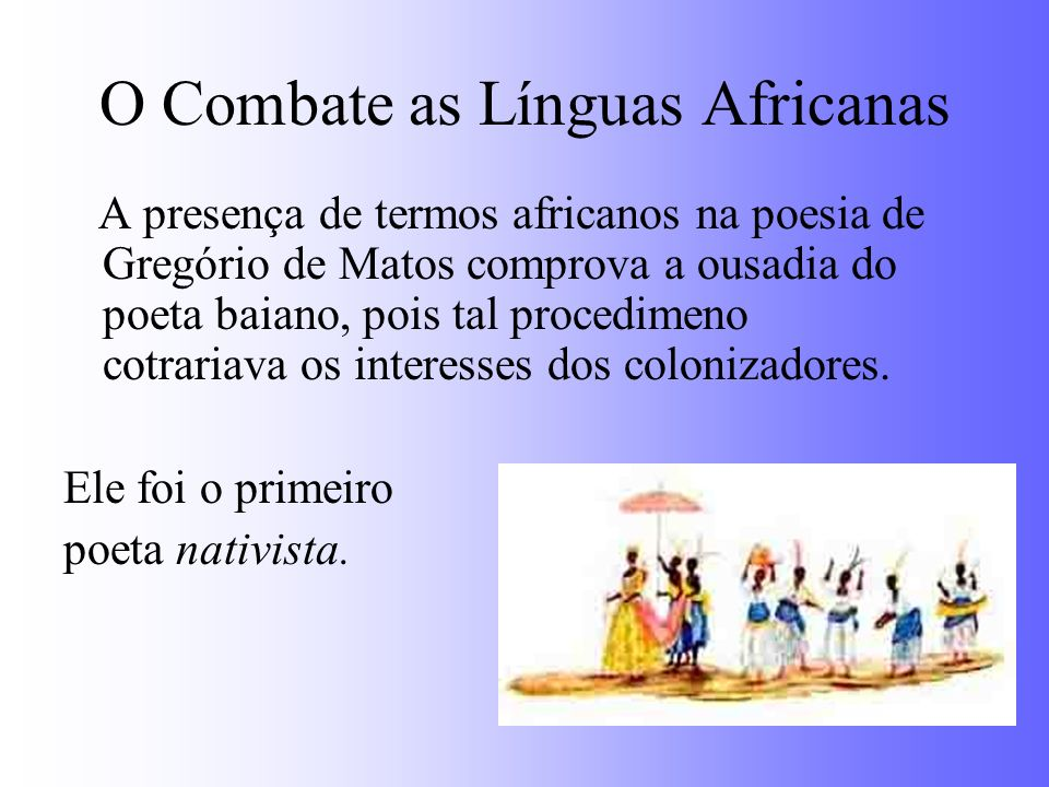 O Combate as Línguas Africanas