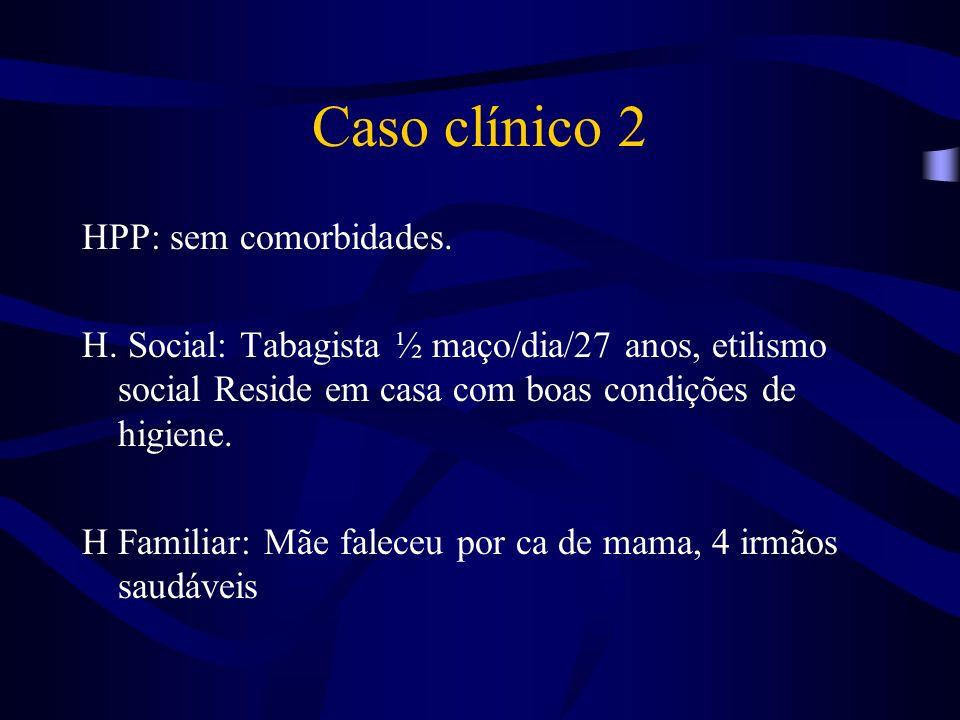 Caso clínico 2 HPP: sem comorbidades.