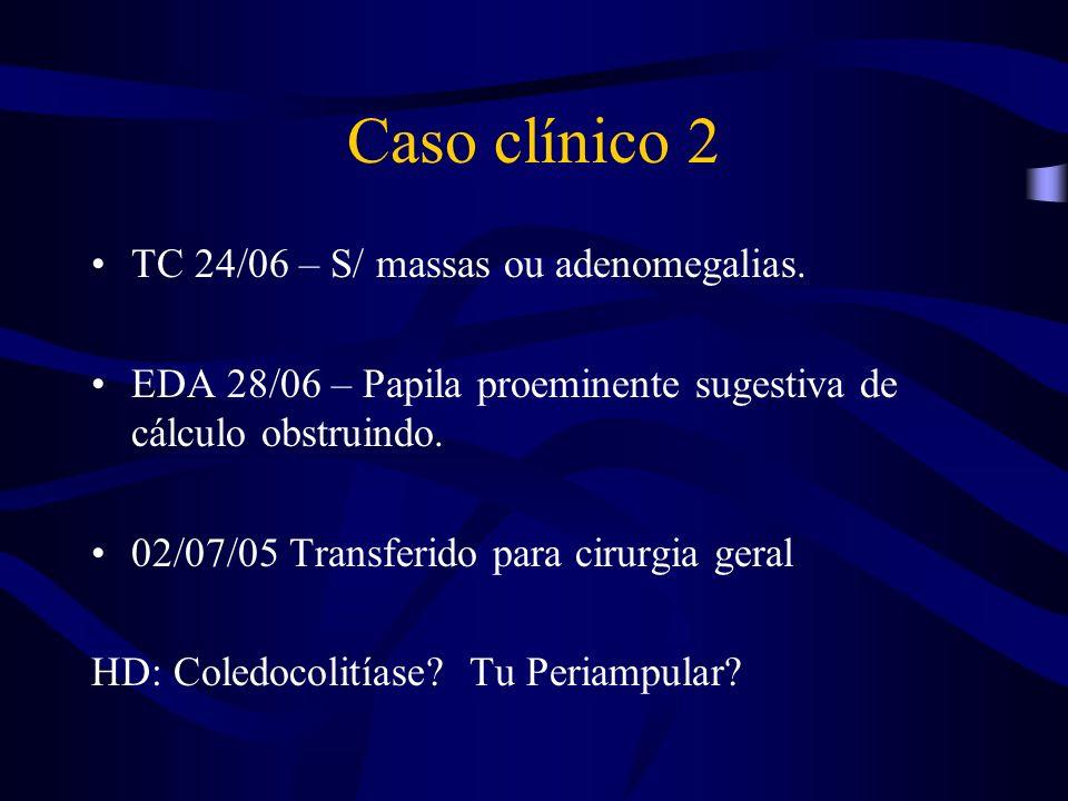 Caso clínico 2 TC 24/06 – S/ massas ou adenomegalias.