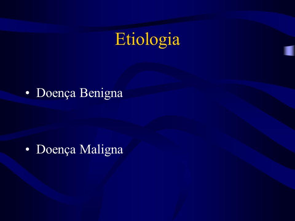 Etiologia Doença Benigna Doença Maligna