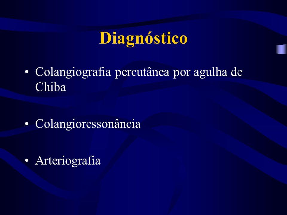 Diagnóstico Colangiografia percutânea por agulha de Chiba