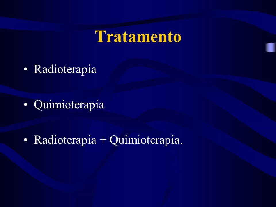 Tratamento Radioterapia Quimioterapia Radioterapia + Quimioterapia.