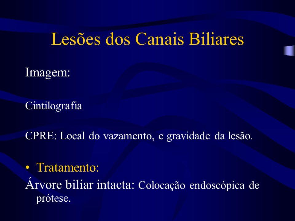 Lesões dos Canais Biliares