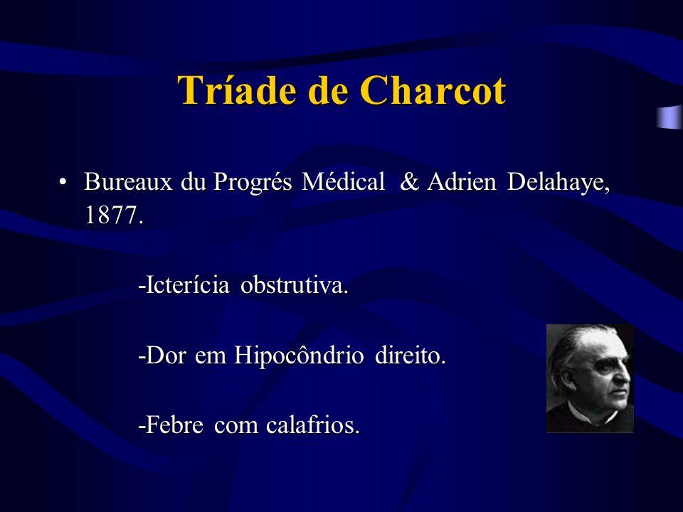 Tríade de Charcot Bureaux du Progrés Médical & Adrien Delahaye, 1877.