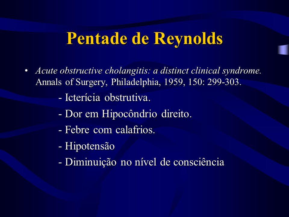 Pentade de Reynolds - Icterícia obstrutiva.
