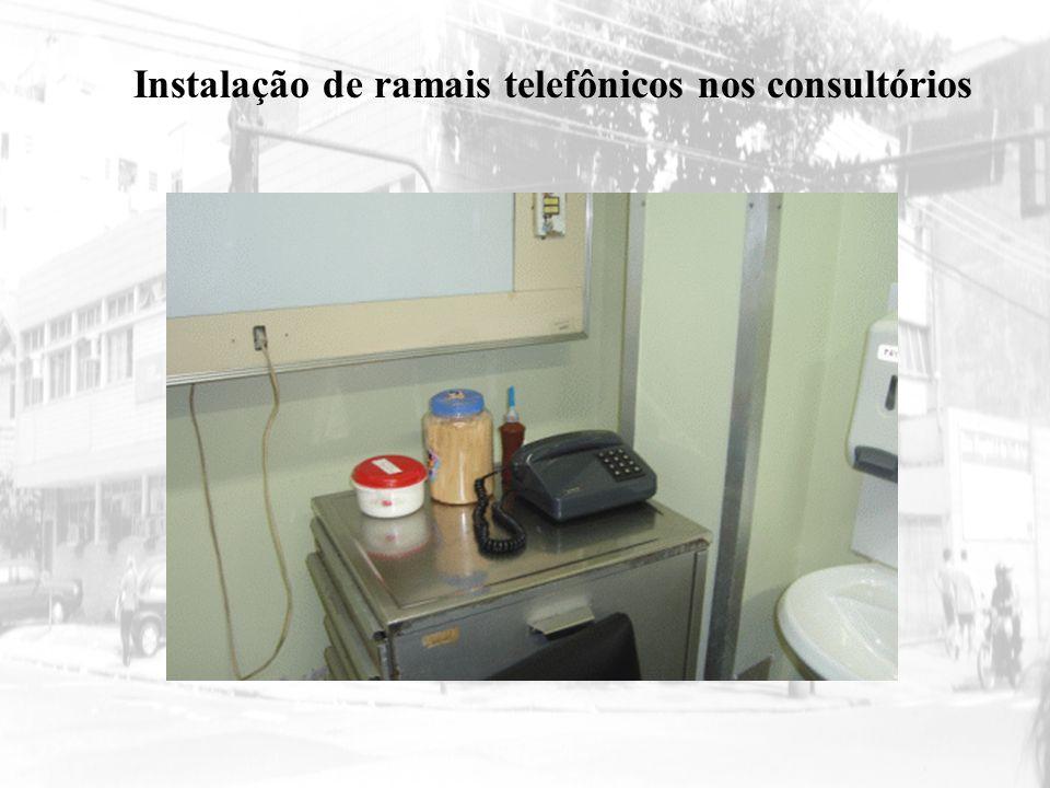 Instalação de ramais telefônicos nos consultórios