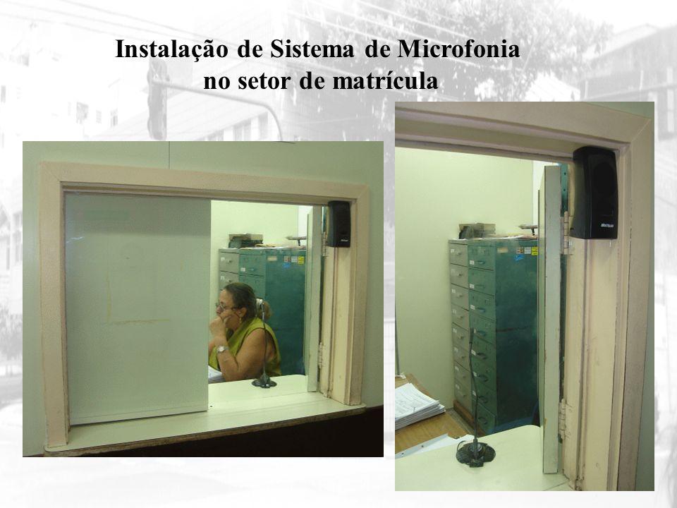 Instalação de Sistema de Microfonia