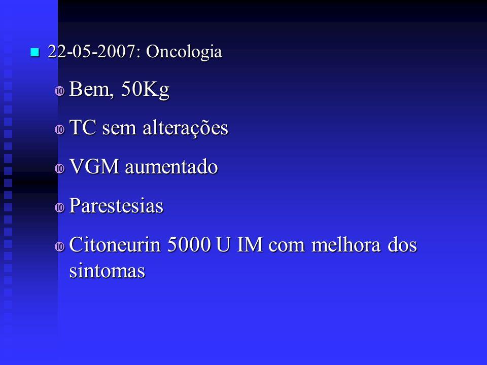 Citoneurin 5000 U IM com melhora dos sintomas
