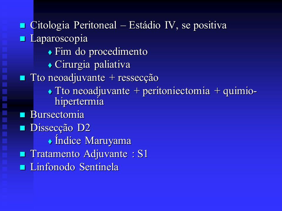 Citologia Peritoneal – Estádio IV, se positiva
