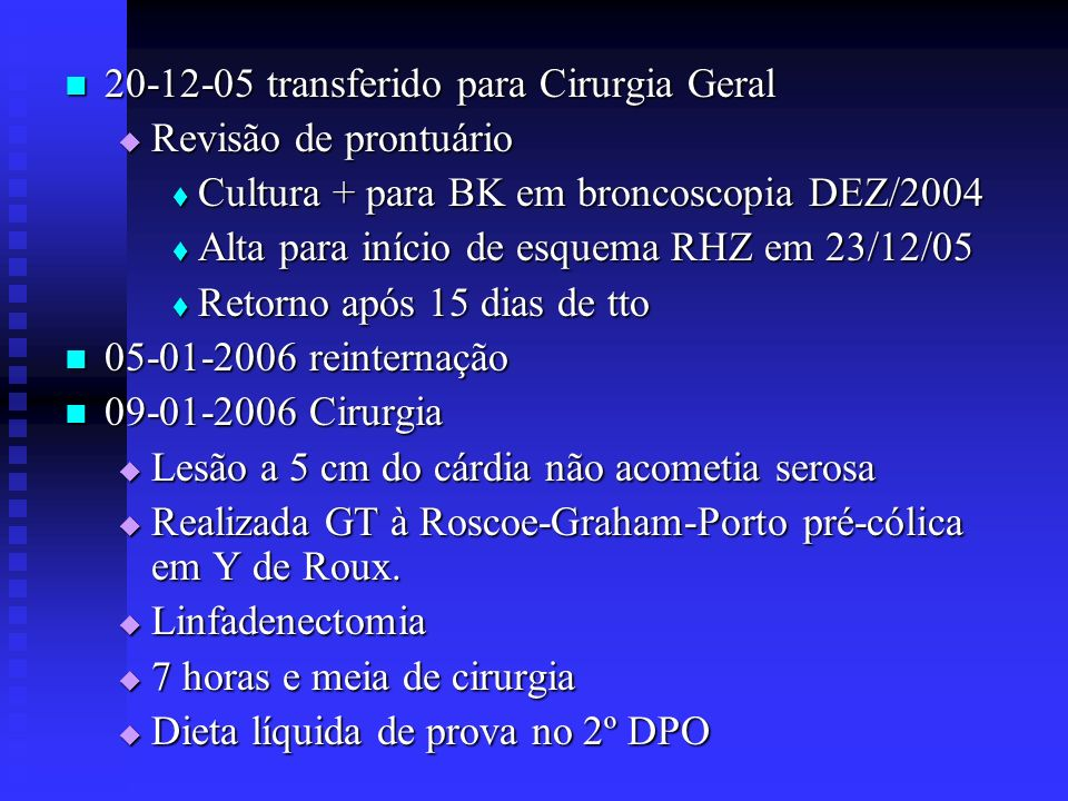 20-12-05 transferido para Cirurgia Geral