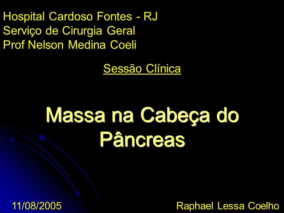 Massa na Cabeça do Pâncreas