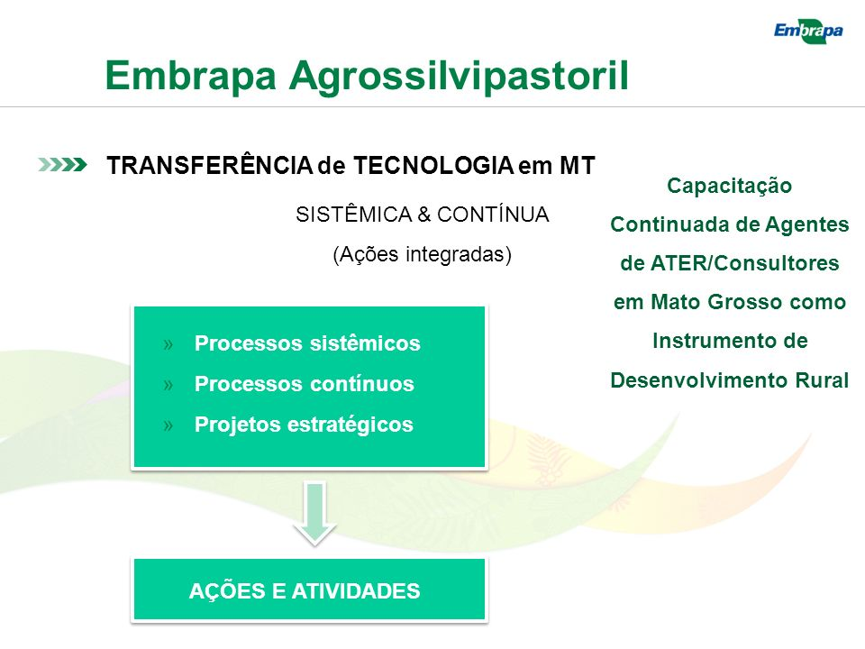 SISTÊMICA & CONTÍNUA (Ações integradas)