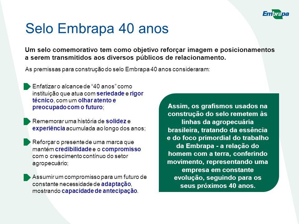 Selo Embrapa 40 anos