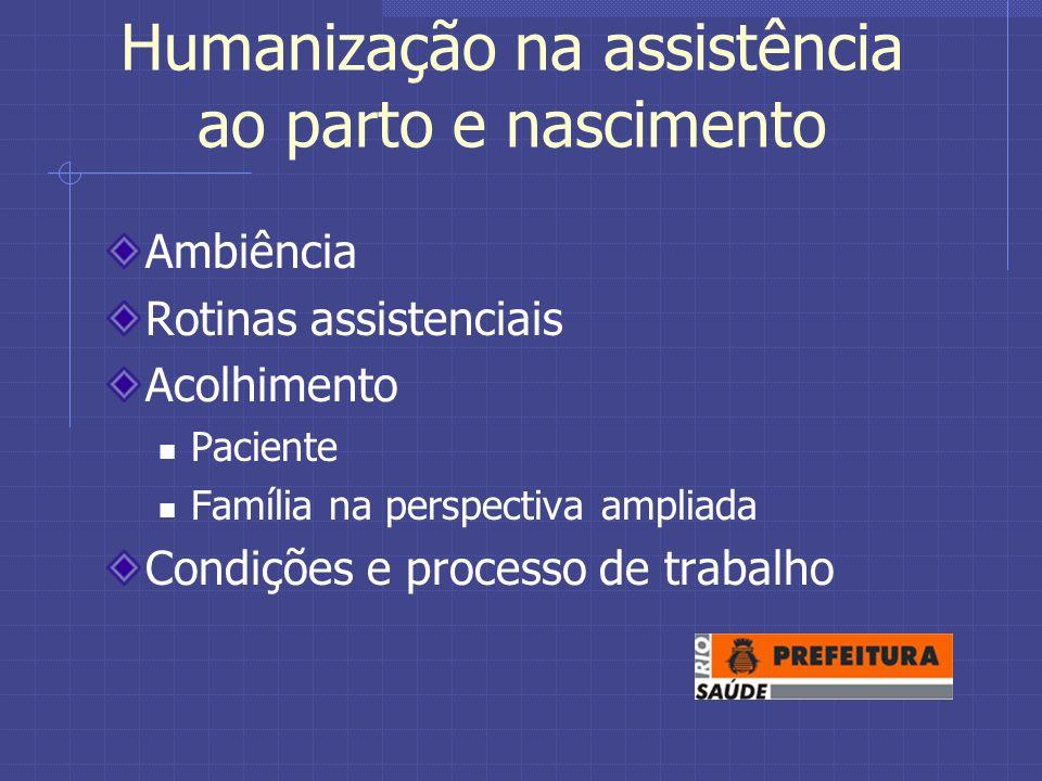Humanização na assistência ao parto e nascimento